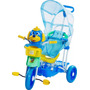Triciclo Gangorra Cabeça Cachorro Azul