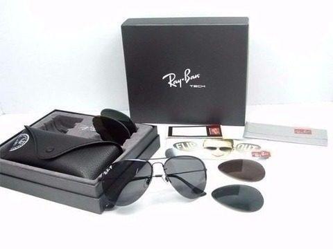 Oculos De Sol Ray-ban Aviador Flipout 3 Lentes Frete Gratis ccfbb98f3c