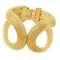 Pulseira Bracelete Feminina Promoção Dourado Ouro Festa