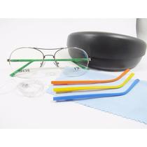 c32038222 Lindo Óculos Troca Haste Aviador P/ Colocar Grau (aro Nylon)