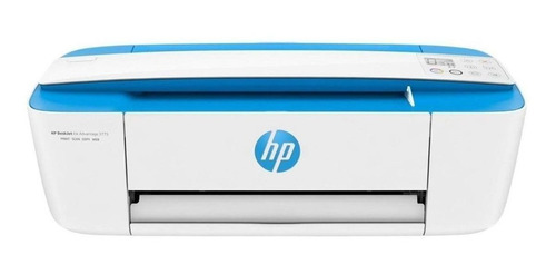 Impressora A Cor Multifuncional Hp Deskjet Ink Advantage 3775 Com Wi-fi 110v/220v Branca E Azul-celeste