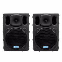 Kit Com 2 Caixas Acústica Ativa Csr 2500a Usb 100w 10pol