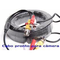 Cabo Pronto Para Camera 25 Metros Com Conectores Bnc E P4