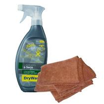 Kit Lavagem A Seco Drywash 600ml + 2 Panos De Microfibra