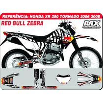 Kit De Adesivos Tornado 06 08 - Red Bull Zebra -qualidade 3m
