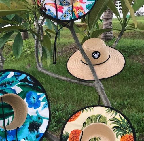 Chapéu Palha Surf Estampado Praia - Estilo Quiksilver à venda em ... c6183dc3ad4