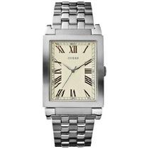 Guess Relógio Prata Quadrado Unissex W85062g2 Oferta