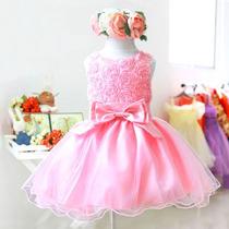 Vestido Infantil Festa Luxo Daminha Pronta Entrega