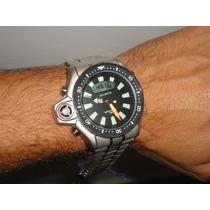 Relogio Atlantis Aqualand Serie Prata Aço = Jp2000 Citzen