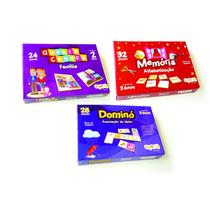 Kit Jogos Pedagógicos Dom.assoc.ideias+mem.alfabet+qcfamilia