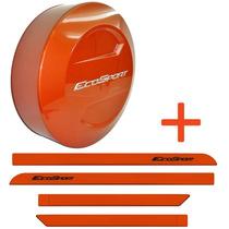Kit Capa Estepe + Friso Ecosport 13 14 15 Laranja Savana