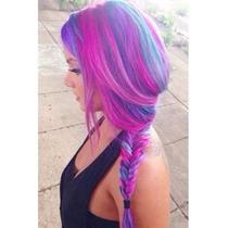Aplique Tictac Alongamento Cabelo Mega Hair Colorido Liso