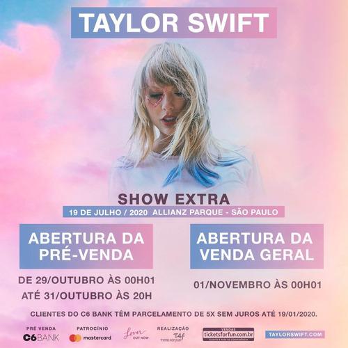 Ingresso Meia Taylor Swift Lover Tour 19/07 Cadeira Inferior