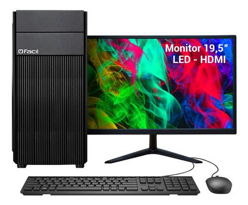 Computador Completo Fácil Intel I5 04 Gb Ddr3 Hd 500 Gb
