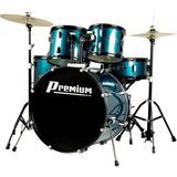 Bateria Acústica Premium Dx722 Bl Azul Completa