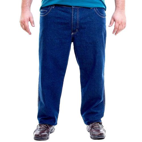 d9f18ba89c Kit 03 Calça Jeans Masculina Plus Size Gordinho N 50 Até 56