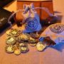Moedas Banco Gringotts - Harry Potter - 03 Moedas + Saquinho Original