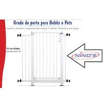 Grade De Porta - Para Bebês & Pets + Extensor De 10cm Grátis
