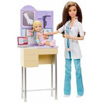 Barbie Profissões Pediatra Conjunto Médica - Boneca Mattel