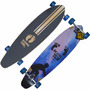 Longboard Skate Hang Ten madeira Truck Profissional Abec 7