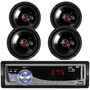 Falante 6 P/ Carro Fox Kit + Radio Toca Mp3 Sd Usb + C/ Rca