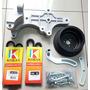 Kit Suporte Para Compressor 10p08 Polia V Palio Uno Fire