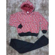 Conjunto Moleton Infantil Feminino (preto Ou Vermelho)