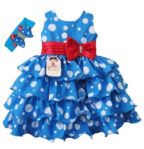 e872022f97 Vestido Infantil Galinha Pintadinha Criança + Faixa 1 Ao 3 - R  124 ...