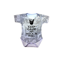 Body Bebê Keep Calm And Rock And Roll
