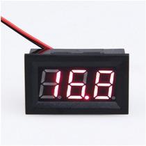 Voltímetro Digital Medidor De Bateria E Som Automotivo