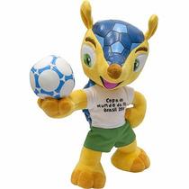 Pelúcia Oficial Fuleco Mascote Copa Fifa 2014 Com Bolsa