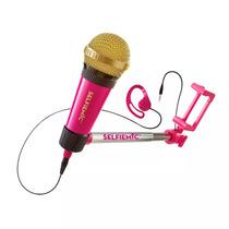 Brinquedo Eletrônico - Selfie Mic - Microfone Selfie - Rosa