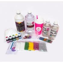 Kit P/fazer Slime Cola Branca E Transparente+ Borax + Espuma