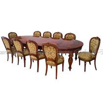 Mesa De Jantar Madeira Maciça Marquiterrie C/ 10 Cadeiras