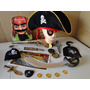 Chapeu Espada Moedas Mapa Pirata Jack Sparrow Pistola