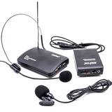 Kit Microfone Sem Fio 1 Lapela + 1 Auricular Headset
