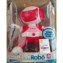 Disco Robô Rosa Estrela