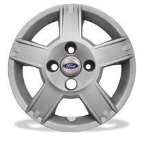 Calota Fiesta Todos Ford Aro 14 Jogo Emblema Resinado 8014