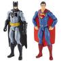 Kit 2 Bonecos Dc Heroes Batman + Superman Original Mattel