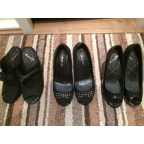 3 Pares Sapatos Datelli Pretos 35