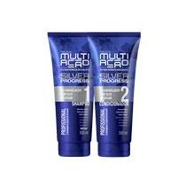 Kit Desamarelador Helcla Multiacao Silver Progress Shampoo +