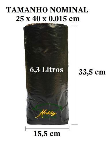 Saquinho Saco Plástico Para Mudas - 25 X 40 X 0,10 - 20 Ud