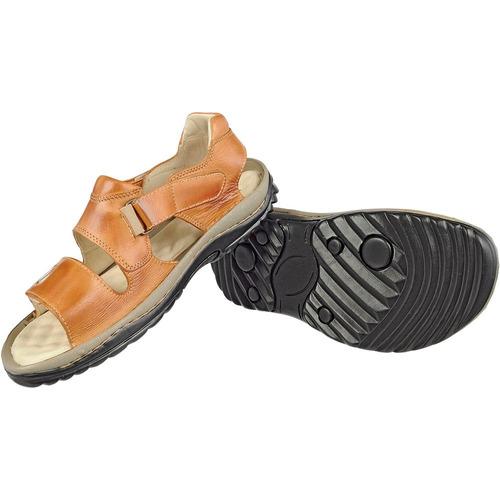 Sandália Papete Masculina Couro Palmilha Gel Confort Ort 466 e201a218b7fcf