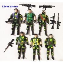 Kit 12 Bonecos Soldado Militar Camuflado Elite Lembrancinha
