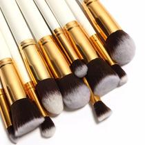 Kit De Pincéis Maquiagem 10 Peças Profissional Sigma Kabuki