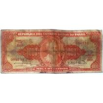 Nota Antiga 1000 Cruzeiros - Rara - Frete Grátis