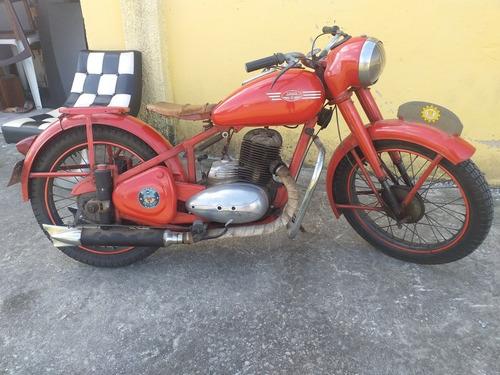 MOTOCICLETA ANTIGA JAWA PERAK 1949 FUNCIONANDO.