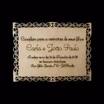 Convite Casamento Provençal Aniversário 15anos Bodas Mdf