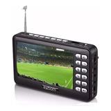 Mini Tv Digital Portátil Hd Tela 4.3 Rádio Fm