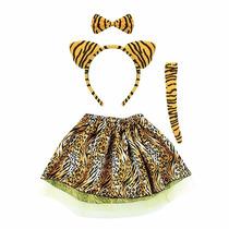 Fantasia Infantil Oncinha Tigre Vaquinha Completa Festa A1